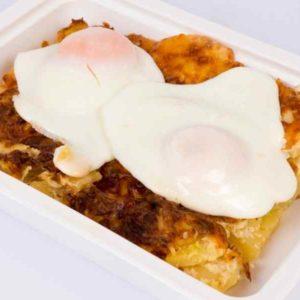 Cartofi gratinati la cuptor cu cascaval oua ochiuri