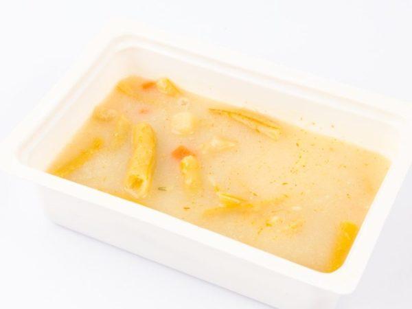Ciorba de fasole galbena pastai de casa cu smantana M