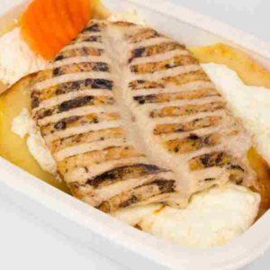Dietetic Cartofi copti cu branza dulce piept de pui la gratar