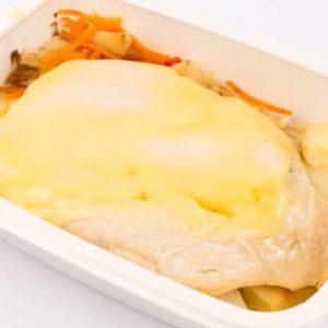 Dietetic Felie piept de curcan cu cascaval cartofi la tava cu varza murata