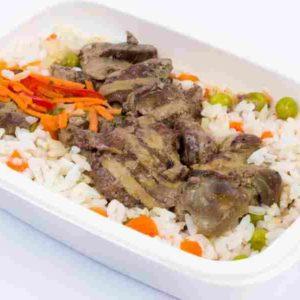 Dietetic Ficatei de pui la gratar orez cu legume