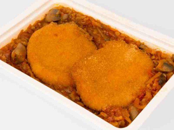 Ghiveci cu ciuperci mozzarella pane
