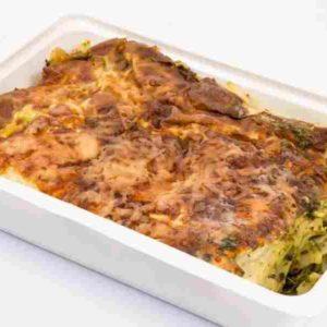Lasagna cu spanac cascaval ras