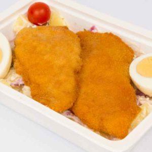 Salata Bavareza de cartofi snitel de pui