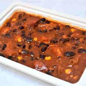 Fasole mexicana chili carne porc