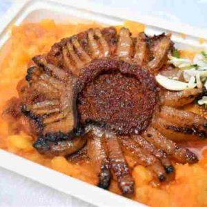 Friptura tiganeasca ceafa porc cartofi sfaramati